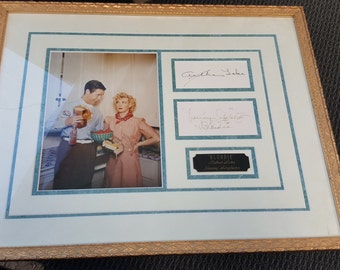 """Arthur Lake and Penney Singleton """"BLONDIE"""" Autographs Matted  Very Collectible"""