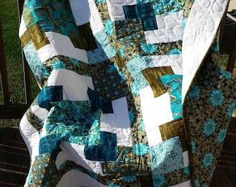 Turquoise Jewel Tones Quilt