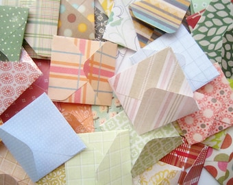 2x2 3x3 4x4 5x5 6x6 card envelopes/ Assorted pattern Square Envelope/ Various Square Envelope Sizes / Set of 20