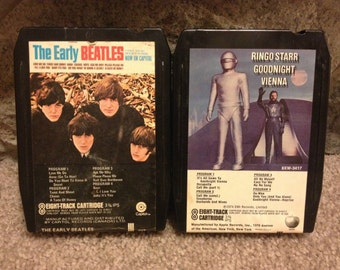 The Early Beatles and Ringo Starr Goodnight Vienna 8-Track tapes