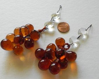 Vintage Glass Grape Lamp Etsy