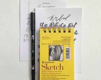 Brush Lettering Supply kit