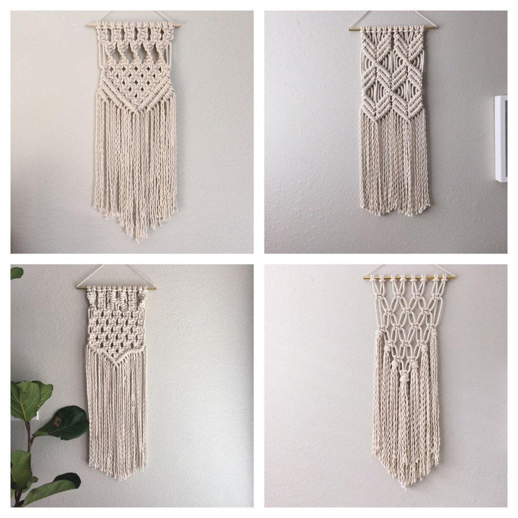 Macrame Kit Macrame Wall Hanging Kit Diy Gift Kit For Macrame