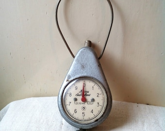 Antique metal russian pocket balance Vintage hanging Kitchen Scale 1940s