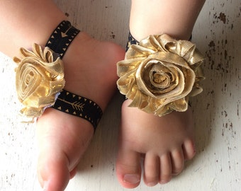 Barefoot sandals; baby barefoot sandals; gold arrow sandal; toddler barefoot sandal; sandal