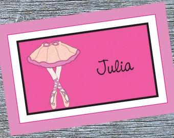 Ballerina Girl Placemat - Pink Ballet Shoes Custom Girls Placemat - Custom Girls Dance Placemat - Ballet Recital Gift for Ballet Dancer