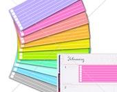 10 Checklists for Erin Condren Horizontal Planner Stickers, Life Planner Stickers, Horizontal Stickers, Horizontal Kit #SQ00587
