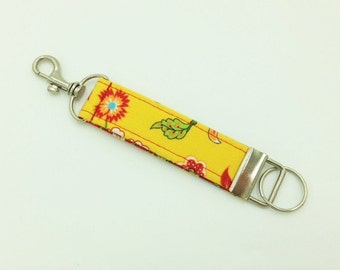 Key Fob, Key Chain, Snap Hook Key Fob, Floral Key Fob -  Made in Maui