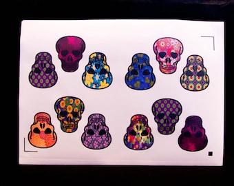 Sticker Set - Skulls