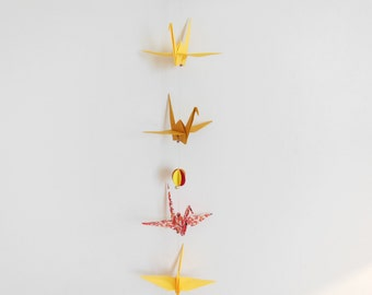 Origami, Red - Ochre - yellow colois Garland