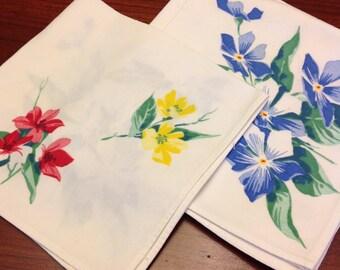 Vintage flower napkins