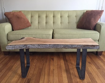 Beech Wood Slab Adirondack Coffee Table