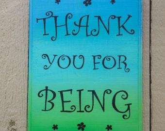Medium customizable wood plaque with inspirational phrase