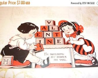 on sale Vintage 1930s I'm Building My Hopes on You - Valentine