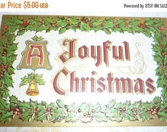 A Joyful Christmas Antique Embossed Postcard