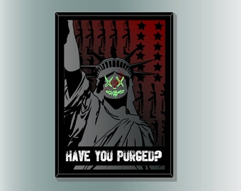 The Purge inspired movie Poster Print by myself Cult.Graphics.