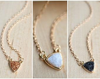 Druzy Necklace. Druzy Bar Necklace 8 colors!! Druzy Necklace - Druzy Pendant - Druzy Jewelry- Sparkle Necklace - Druzy set - Gold Druzy