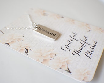 Grateful, Thankful, Blessed Necklace! Blessed necklace - grateful necklace - grateful thankful blessed