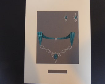 A4 Mounted Jewellery illustration