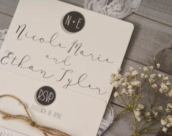 RUSTIC|Wedding Invitation Set #8