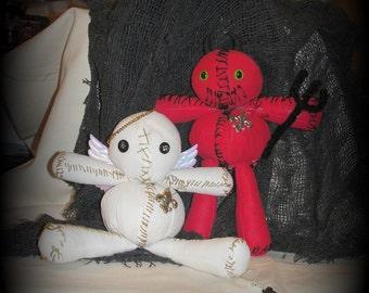 little sinner and saint voodoo doll