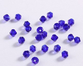 50 piece Austria Crystal 4mm 5301 Bicone Beads