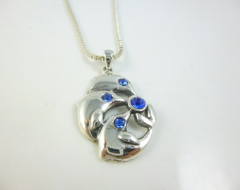 Dolphin Necklace, Sterling Silver Dolphin Pendant, Dolphin Jewelry, Nautical Jewelry