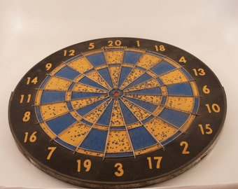 Vintage Dart board,  Champion Deluxe Dart Board , Made in England, Man Cave ,Valentine's Gift for Him