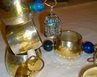 Mixed Metal Glass Beaded Handmade Rain Chain