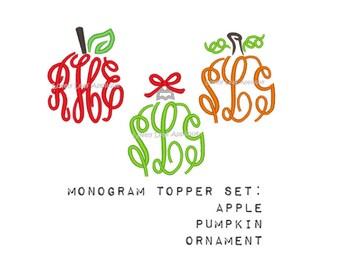 DIGITAL ITEM: Monogram Topper Embroidery Design SET