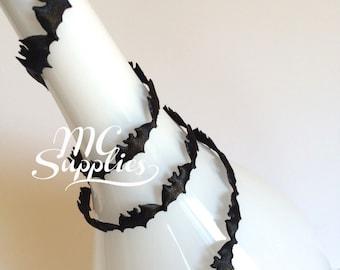 Bats trim,autumn trim,bats ribbon,craft trim,embellish ribbon,fall ribbon,card making trim,decorative trim,scrapbooking trim,fabric trim,175