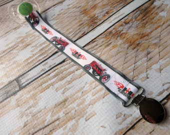 Baby Pacifier Clip - International Harvester Case IH inspired Red Tractor, Farming, Country Boy Country Girl (Shabby Rose or Feltie Option)