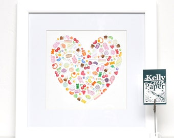 Sweetheart: Large Square Giclee Print
