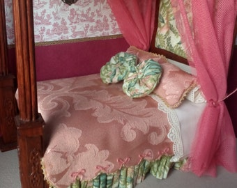 Miniature Doll House Bed