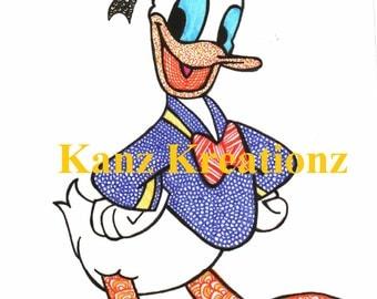 Hand drawn donald duck