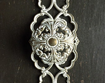 Vintage Ornate Drawer Pull and Backplate