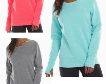 Monogrammed Longer Sweatshirt--  Early Spring SALE-- While They LAST!