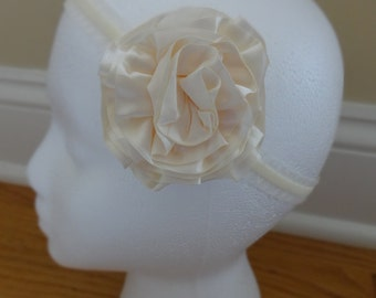 Elegant Satin Flower Headband