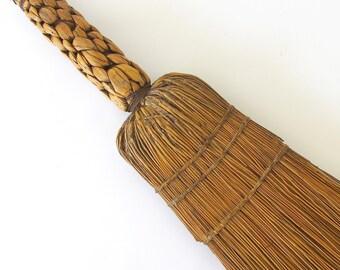 Vintage Hearth Broom. Fireplace Broom. Farmhouse Kitchen. Rustic. Primitive. Handmade. Collectible. Display. Fall Decoration. Corn Broom[12]