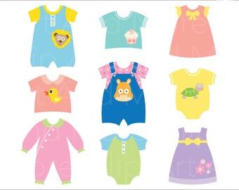 Baby Clothes Banner Clipart Baby Boy Clip   Etsy Studio