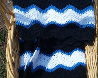 Wandering Waves- Crochet Lap Throw