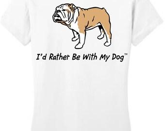 English Bulldog T Shirt (ladies)