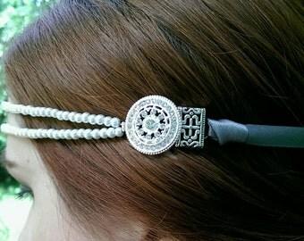Art-Deco Gatsby-inspired Pearl Headband- Handmade