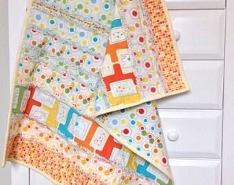 Savannah Bop - strip rag quilt