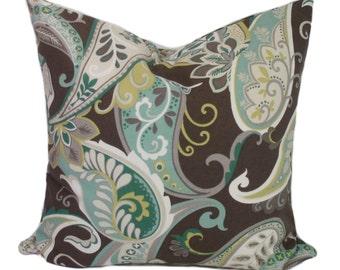 Pillow covers, Brown pillow, Throw pillow cover, Decorative pillows, Couch cushion, Shams. Paisley, 16x16, 18x18, 20x20, 22x22, 24x24, 26x26