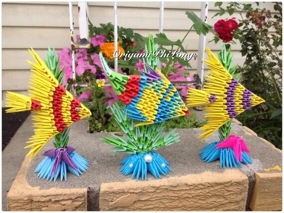 Fish 3D Origami Birthday Gift Home Decor - photo#12