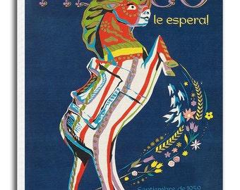 Mexico Vintage Travel Poster Mexican Art Retro Home Decor Print xr953