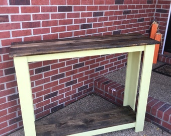Distressed Ryegrass Rustic Primitive Hall table entry way furniture sofa table buffet table library table
