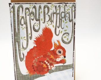 Squirrel greetings card