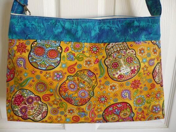 Alexander Henry Multi-color Skull Diaper Bag